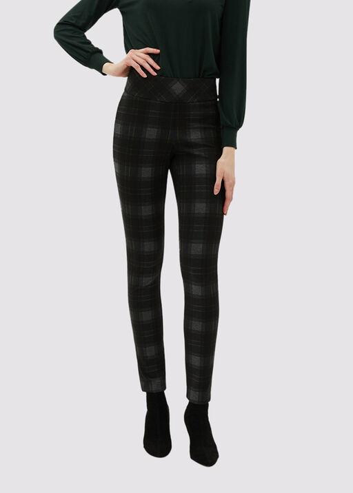 New-Classic Plaid Pants, Black, original