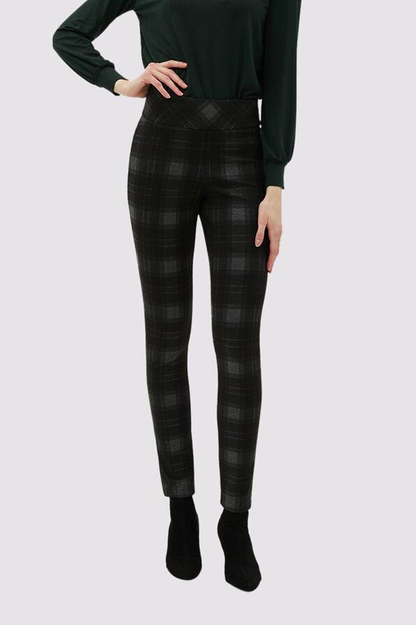 New-Classic Plaid Pants, Black, original image number 0