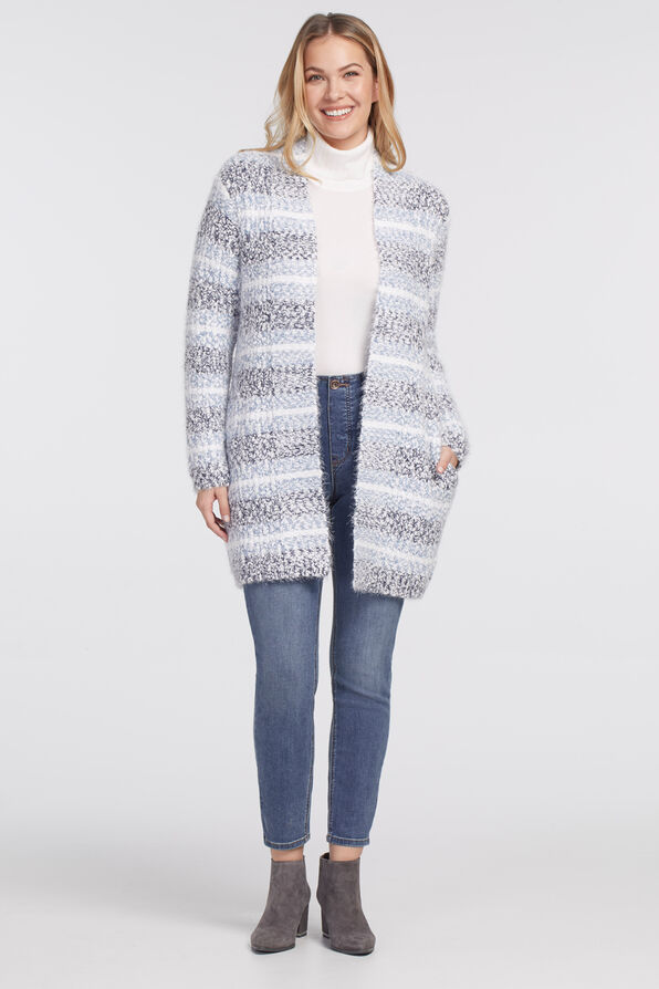 Nikka Cardigan Sweater, Denim, original image number 0