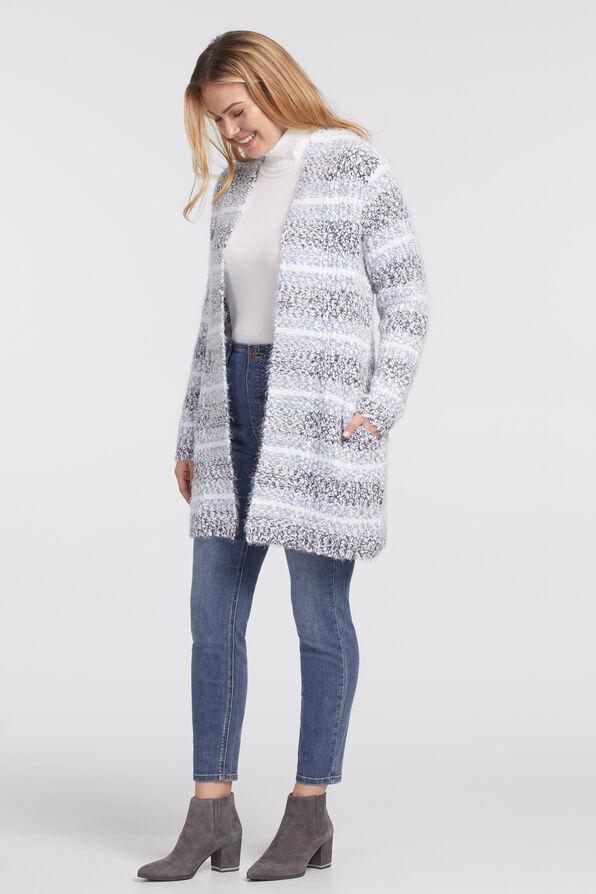 Nikka Cardigan Sweater, Denim, original image number 2