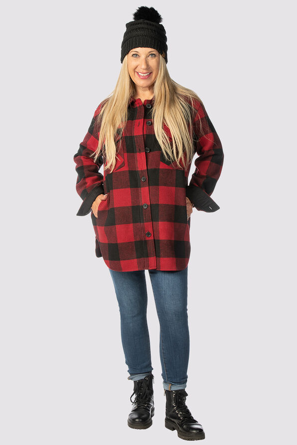 Suzanne's Plaid Shacket, Red, original image number 4