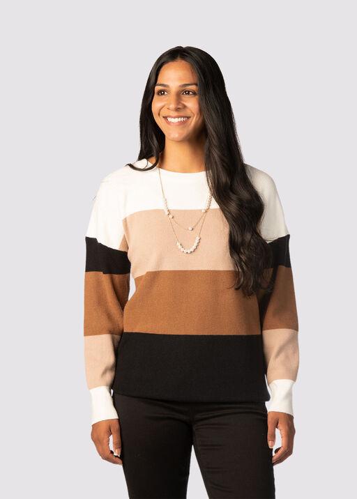 Plush Colorblock Sweater, Multi, original