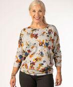 Floral Waterpaint Sweatshirt, Grey, original image number 1