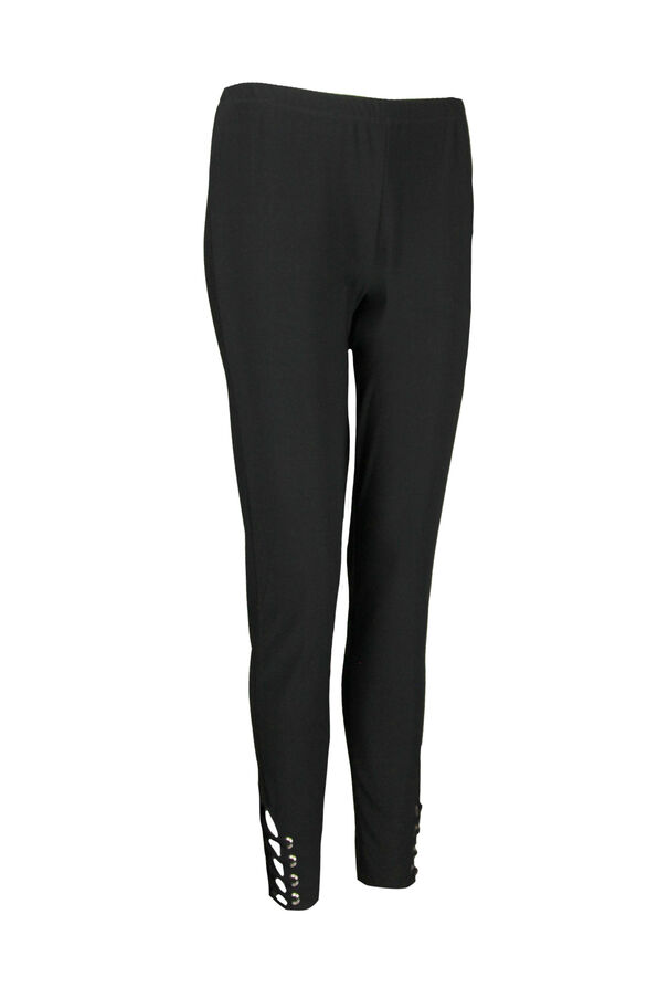 Legging with Lattice Ankle, Black, original image number 0