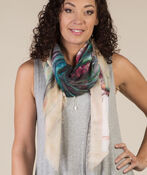 Butterfly Print Square Scarf, , original image number 0