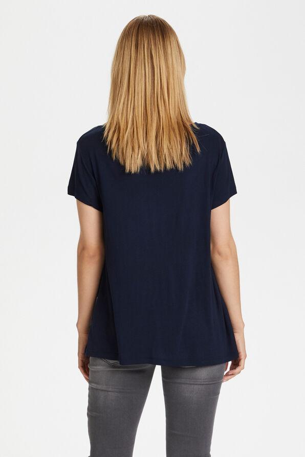 Kaffe Anna T-shirt, Navy, original image number 2