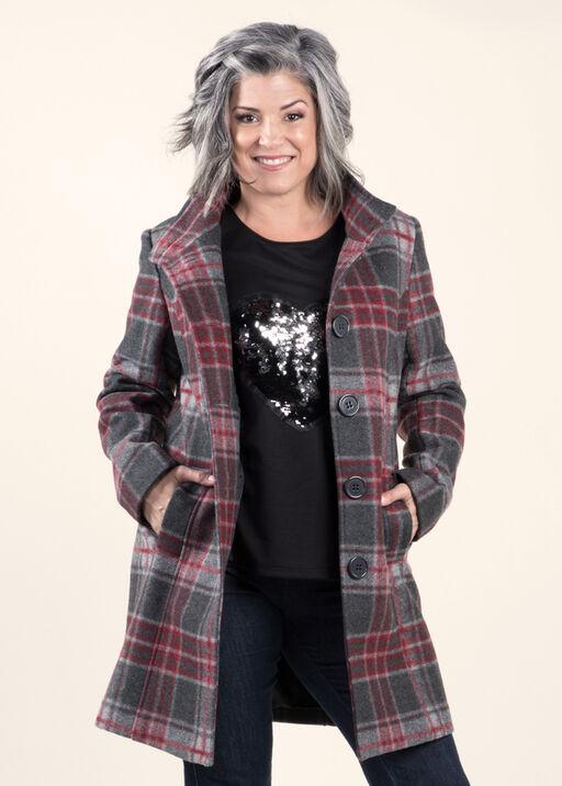 Brushed Faux Wool Coat, , original