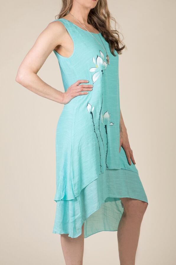 Brooke Hi Lo Dress, Aqua, original image number 0