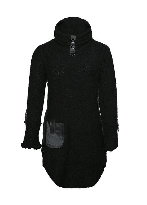 Kelaya Boucle Cowl Neck Sweater, Black, original