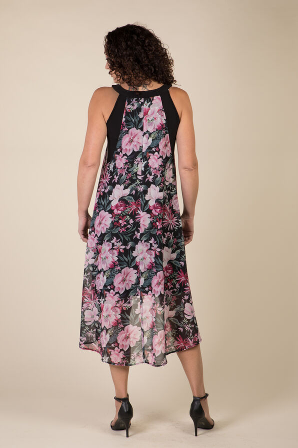 Arielle Hi-Lo Dress, Black, original image number 2