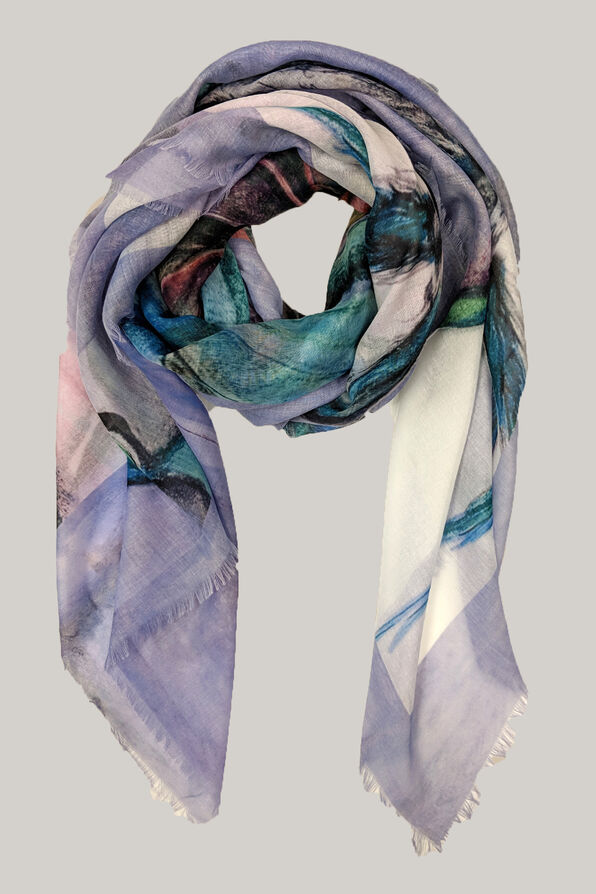 Butterfly Print Square Scarf, , original image number 2