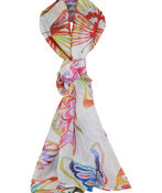 Butterfly Print Rectangle Scarf, Multi, original image number 0