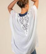 Lace Back Kimono, White, original image number 0