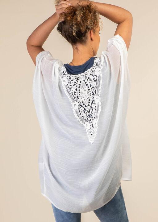 Lace Back Kimono, White, original