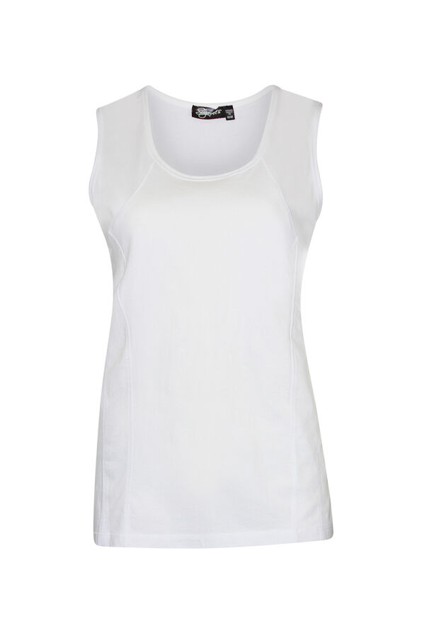Stretch Cotton Tank Top, , original image number 2