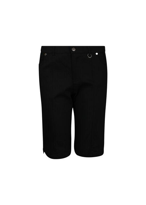 Five Pocket Cotton Stretch Bermuda Short, Black, original