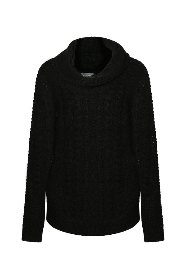 Gia Cable Knit Sweater with Cowl Neck, , original image number 1