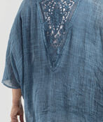 Lace Back Kimono, Denim, original image number 2