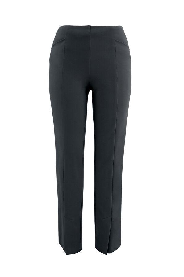 Up Compression Pants with Ankle Slit, Black, original image number 0