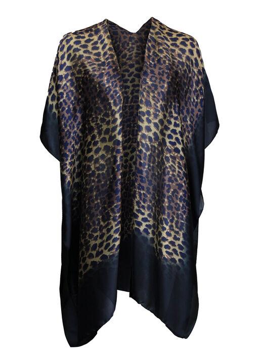 Leopard Print Kimono, Black, original