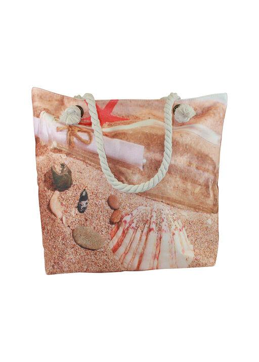 Rope Handle Woven Beach Bag, Natural, original