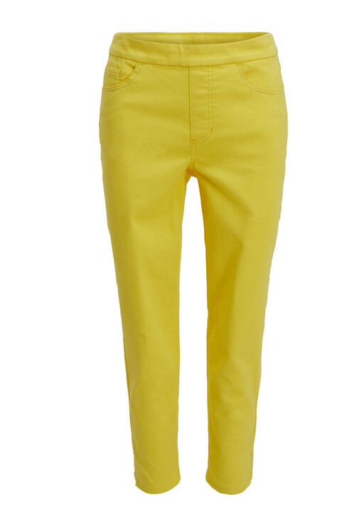 Tribal Super Stretch Pull-On Coloured Ankle Pant, Yellow, original