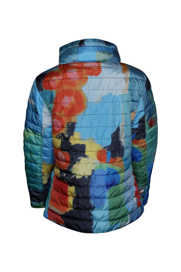 In the City Reversible Jacket with Hidden Hood, Orange, original image number 2