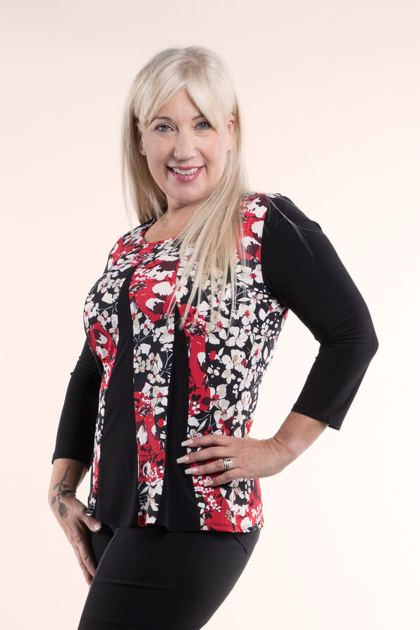 Tunic Top Fit and Flare, Red, original image number 2