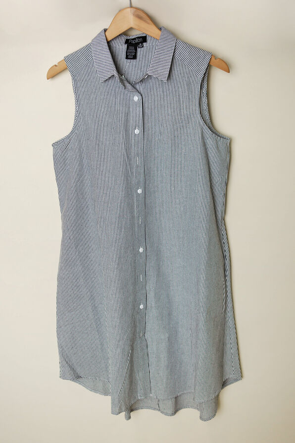 Samantha Shirt Dress, Black, original image number 0