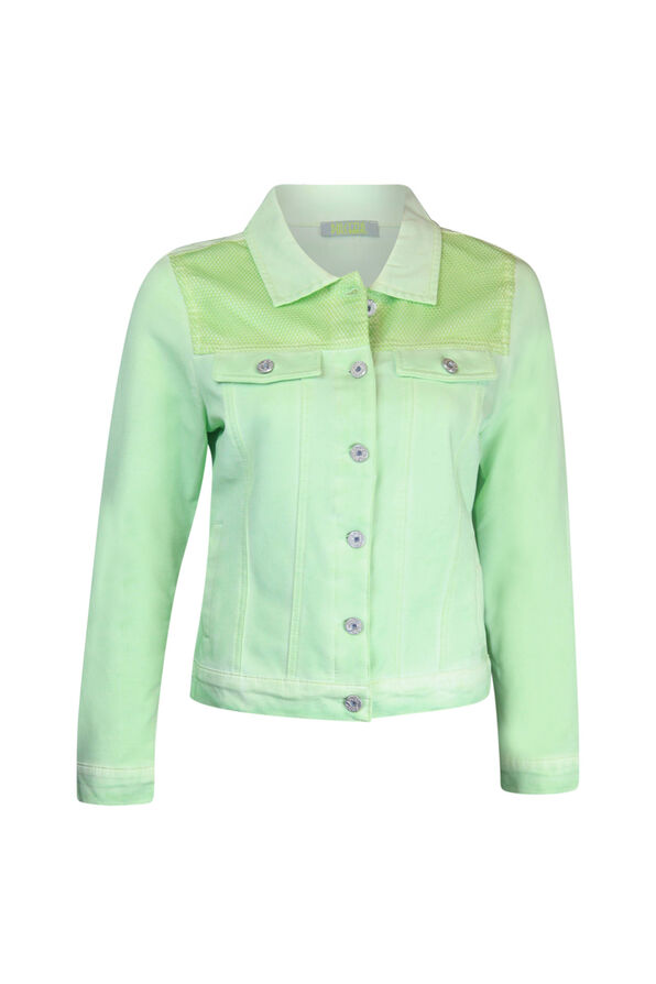 Jacket with Mesh Shoulder Accent, , original image number 1