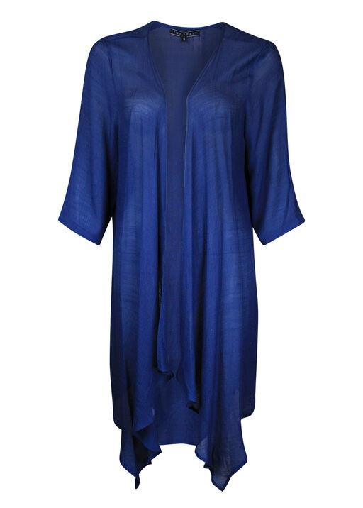 3/4 Sleeve Kimono Style Cardigan, Navy, original