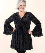 Favorite Flocked Velvet Tunic, Black, original image number 0