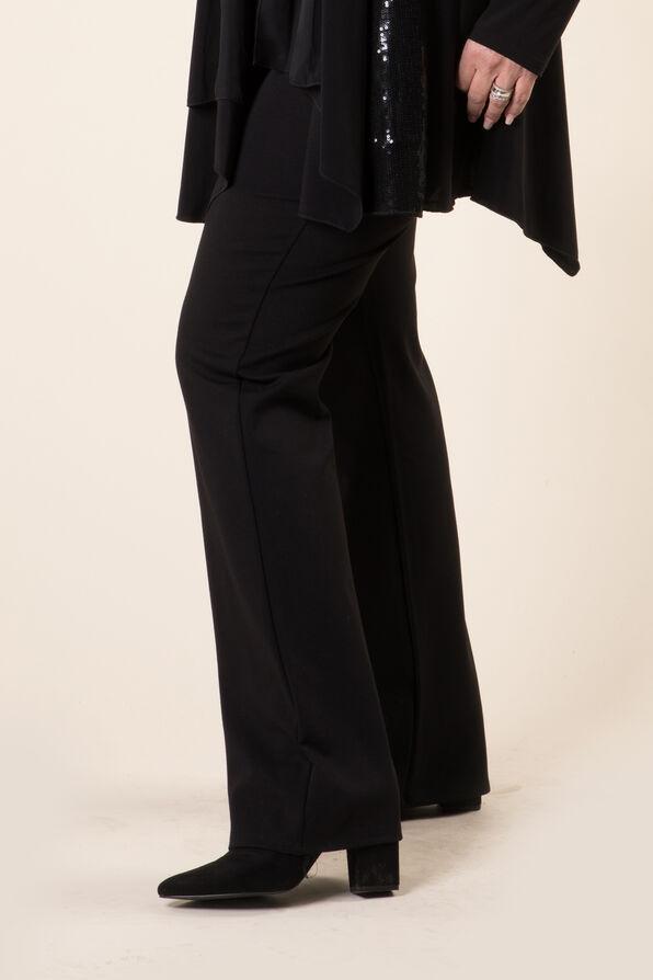 Stretch Knit Bootcut, Black, original image number 0