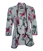 Elodie Floral Twin Set 3/4 Sleeve, Grey, original image number 0
