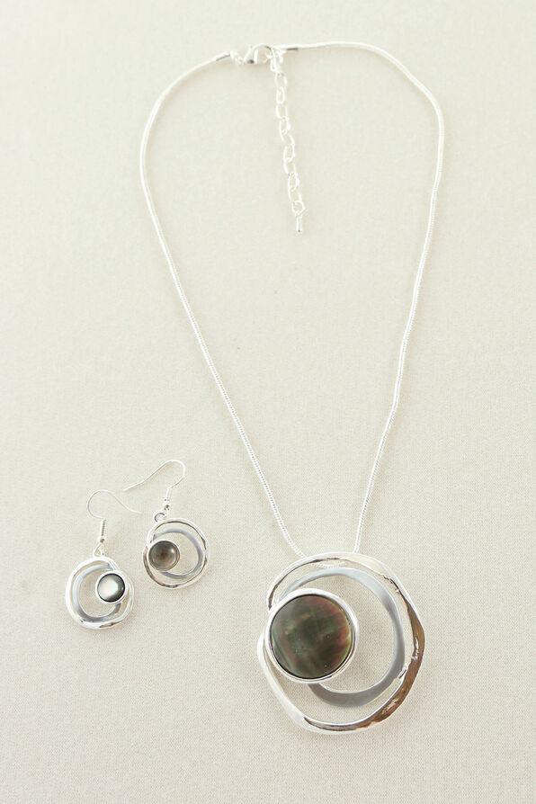 Iridescence Necklace Set, Silver, original image number 0