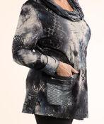 Cowl Neck Tunic, Blue, original image number 2