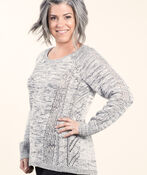 Long Sleeve Pullover Sweater, Black, original image number 0