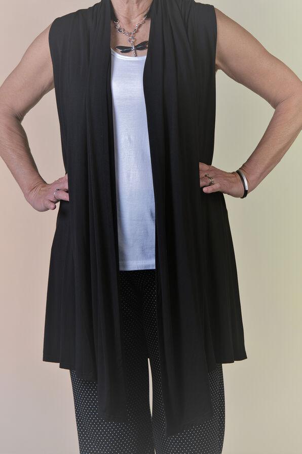Bamboo Long Vest, Black, original image number 1