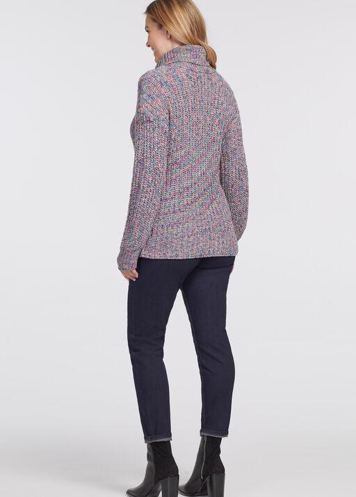 Vibrantly-Versatile Turtleneck Sweater, Multi, original