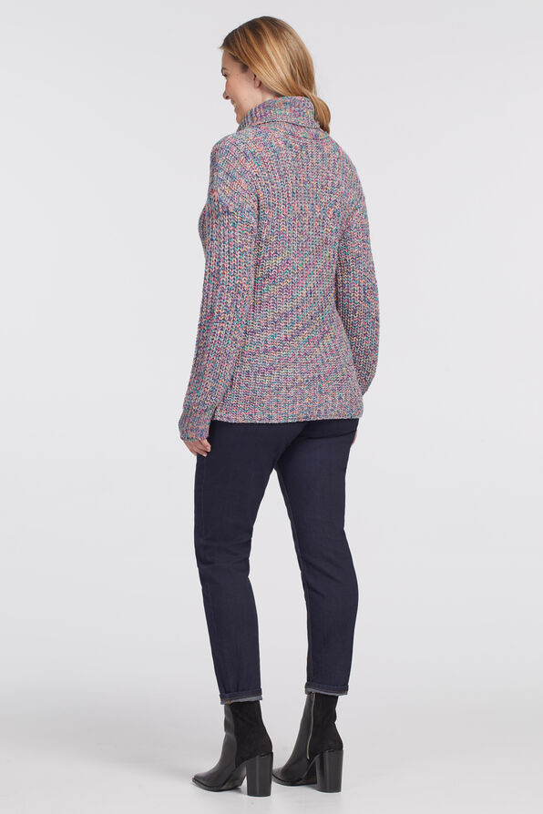 Vibrantly-Versatile Turtleneck Sweater, Multi, original image number 1