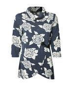 Lorelei Rose Adorned Tunic, Denim, original image number 0