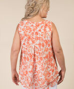 Lauren Sleeveless Blouse, Coral, original image number 3