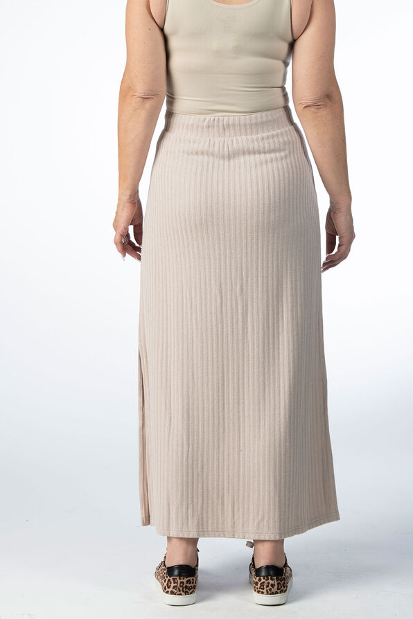 PULL ON MAXI SKIRT WITH SIDESLIT, Oatmeal, original image number 2