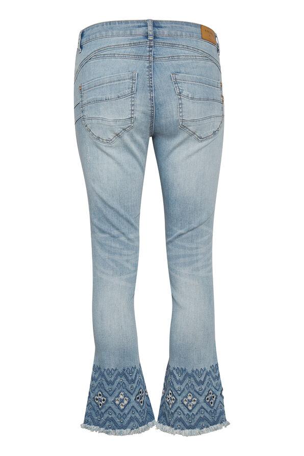 Cream Shape Fit Analis Jeans, Denim, original image number 1