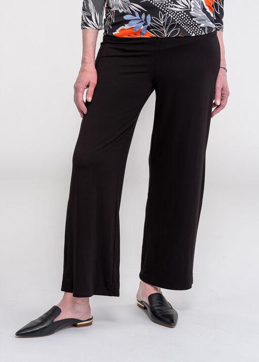 Wide Leg Bamboo Crop Pant, Black, original