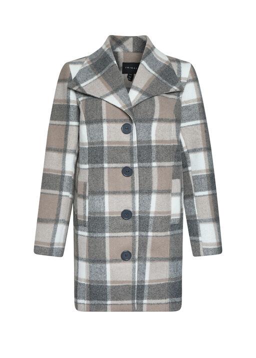 Plaid Pea Coat, , original