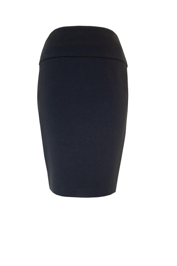 UP Ponte Knit Skirt, Black, original image number 0