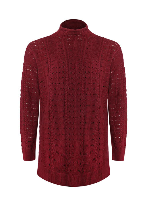 Cadenza Mock Neck Sweater, Wine, original