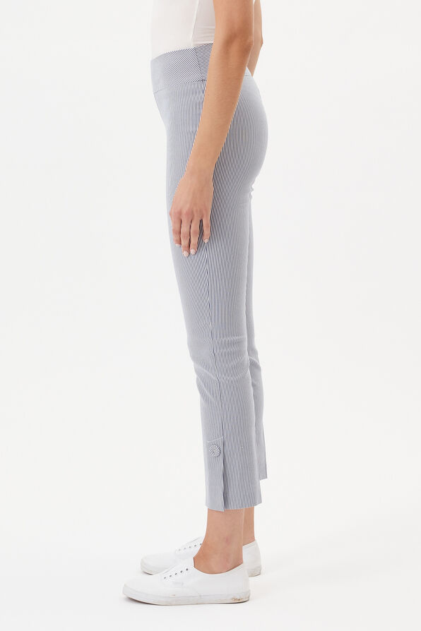 UP! Tummy Control Pin Stripe Ankle Pant, Blue, original image number 2