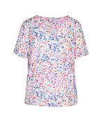 Ditzy Floral Print T-Shirt with Drawstring Waist, Multi, original image number 1